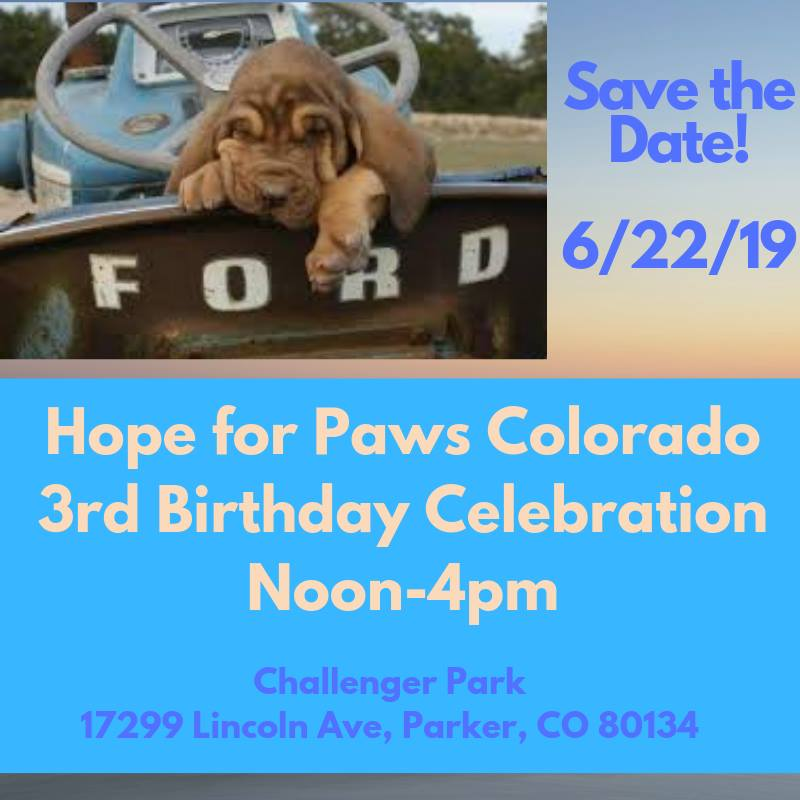 Hope for Paws Colorado - 3rd Birthday Celebration